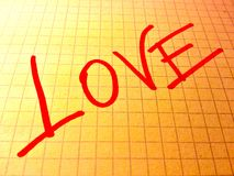 Amore su carta Immagine Stock