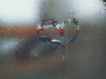 Amore su vetro Immagine Stock Libera da Diritti