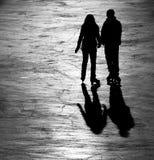 Amore sul ghiaccio Fotografia Stock