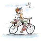 Amore sulla bici Fotografia Stock Libera da Diritti