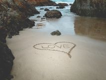 Amore sulla spiaggia Immagine Stock