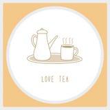 Amore tea1 Immagini Stock
