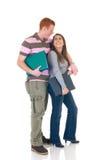 Amore teenager della High School degli allievi Fotografia Stock Libera da Diritti