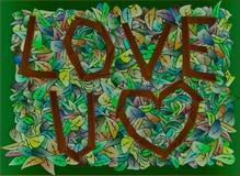 Amore U, stile di autunno della foresta Fotografia Stock