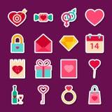 Amore Valentine Day Stickers Immagine Stock Libera da Diritti