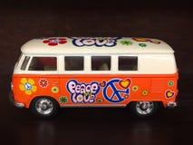 AMORE Van di PACE arancio immagine stock