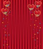 Amore variopinto della mosca rossa della scatola di amore Immagini Stock Libere da Diritti