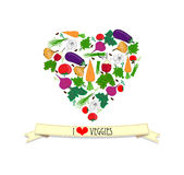 Amore veggy Immagine Stock