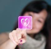 Amore virtuale Immagini Stock
