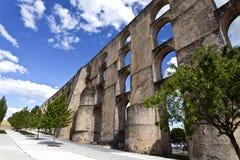 Amoreira Aqueduct in Elvas, Portugal Stock Photos
