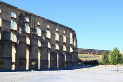 Amoreira Aqueduct near Elvas, Portugal Royalty Free Stock Images