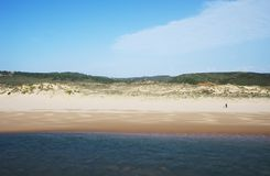 Amoreira Beach in the Costa Vincentina , Portugal Royalty Free Stock Photos