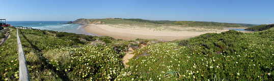 Amoreira beach in South-West Portugal Royalty Free Stock Images