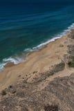 Amoreiras strand i Santa Cruz, Portugal Arkivfoton
