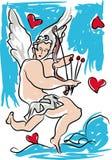 Amorek, valentines dzień Zdjęcia Royalty Free