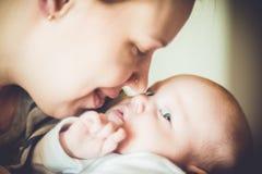 Amores de matriz seu bebê imagem de stock
