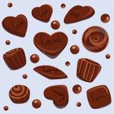 Amores del chocolate del vector imágenes de archivo libres de regalías