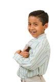 Amores e Hugs do menino seu livro Imagem de Stock Royalty Free