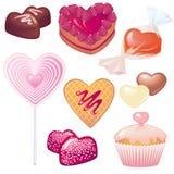 Amores para el día de tarjeta del día de San Valentín Fotografía de archivo libre de regalías