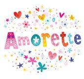 Amorette franskt flickanamn royaltyfri illustrationer
