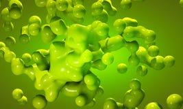 Amorf klotformig grön mass Arkivfoton