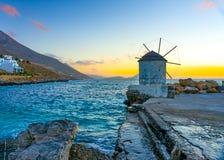 In Amorgos-Insel in Griechenland stockbild