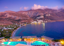 In Amorgos island in Greece Stock Photo