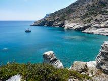 Amorgos island landscape Royalty Free Stock Photo