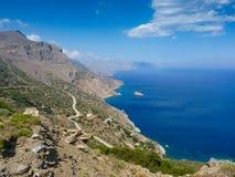 Amorgos island landscape Stock Photos