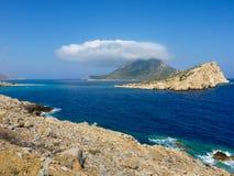 Amorgos island landscape Royalty Free Stock Photos