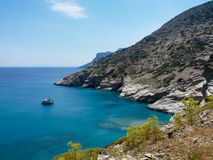 Amorgos island landscape Stock Photos