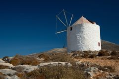 Amorgos island, old village of Chora windmills, Greece