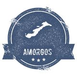 Amorgos logotecken Royaltyfri Bild