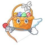 Amorka Easter koszykowa piłka w kreskówka kształcie royalty ilustracja
