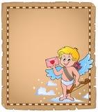 Amorka tematu pergamin 6 Zdjęcie Royalty Free