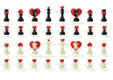 Amorous chess Stock Photo