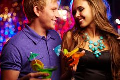 Amorous clubbers Royalty Free Stock Photography