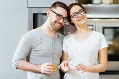 Amorous cookers Royalty Free Stock Photo