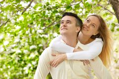 Amorous couple Stock Photos
