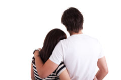 Amorous couple hugging Royalty Free Stock Photography