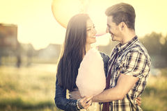 Amorous couple looking at each other Stock Photos