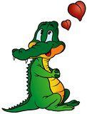 Amorous Crocodile Royalty Free Stock Photos