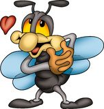 Amorous fly. Little fly 01 - High detailed and coloured cartoon illustration - Amorous fly Stock Photography