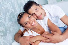 Amorous guy and girl Stock Images