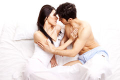 Amorous junge Paare Stockfoto