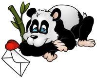 amorous panda royaltyfri illustrationer