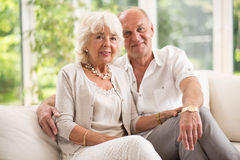 Amorous senior couple Royalty Free Stock Image