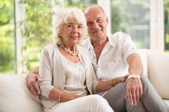 Amorous senior couple Royalty Free Stock Image