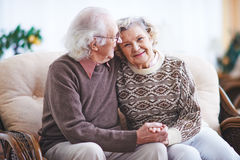 Amorous seniors Royalty Free Stock Images