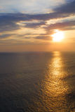 amorous solnedgång Royaltyfri Bild